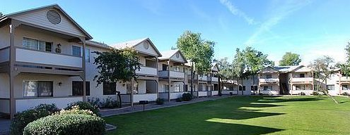 Row of condos along a grassy greenbelt - Buying Property for your College Student - CCondominium Regulations, Buying a condo, Selling a condo - Bill Salvatore, Arizona Elite Properties 602-999-0952 - Arizona Real Estate