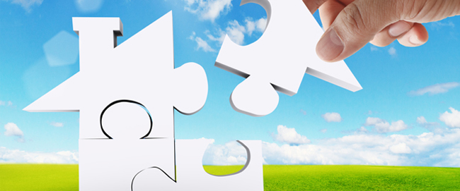Puzzle pieces forming a house - Home Sellers, Home Buyers, Mortgage Regulation, Title and Escrow - Bill Salvatore, Realty Excellence East Valley - Arizona Elite Properties 602-999-0952