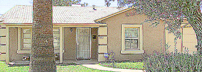 sketch-style picture of front of home - 2862 N Greenfield Rd, Phoenix AZ 85006