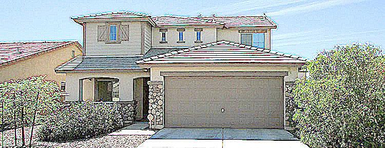 sketch style of front of home - 1795 W Gold Mine Way, Queen Creek, Arizona 85142 - 4 Bedroom, 3 Bath home in Queen Creek - Bill Salvatore, Arizona Elite Properties 602-999-0952 - Arizona Real Estate