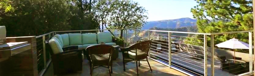 Valley and mountain view from exterior deck/patio - Photo courtesy of Carlo Alberto Orecchia on Vimeo - - Jane Fonda's Hollywood Estate for Sale - Photos via RIS Media - Bill Salvatore, Arizona Elite Properties 602-999-0952 - Arizona Real Estate