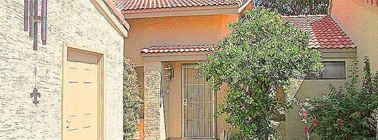 artistic rendering of courtyard and entrance to home - 945 N Pasadena, Mesa Arizona - Bill Salvatore, Arizona Elite Properties 602-999-0952