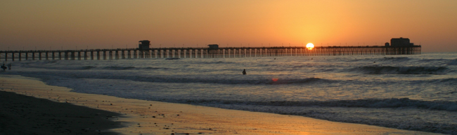 Long pier at sunset - Ocean side homes, waterfront Property, beach houses - Bill Salvatore, Arizona Elite Properties